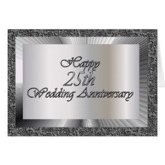 Cartão 25o aniversário de casamento feliz