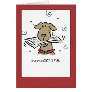 Cartão 2666 parabéns do cão da boa notícia