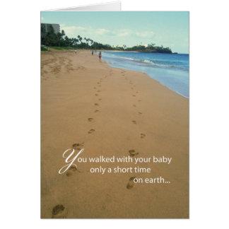 Cartão 2668 pegadas na praia