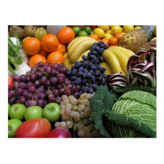 Cartão 26 da fruta e da comida