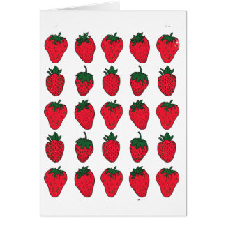 Cartão 27 de fevereiro - dia da morango