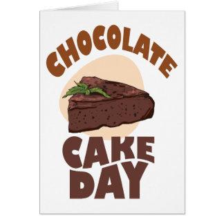 Cartão 27 de janeiro - dia do bolo de chocolate