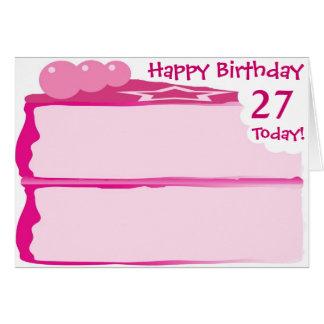 Cartão 27o aniversário feliz