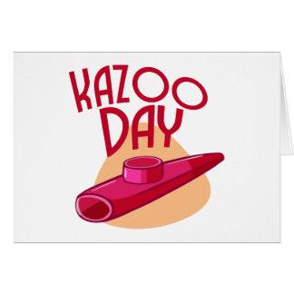 Cartão 28 de janeiro - dia do Kazoo