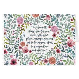 Cartão 29:11 de Jeremiah