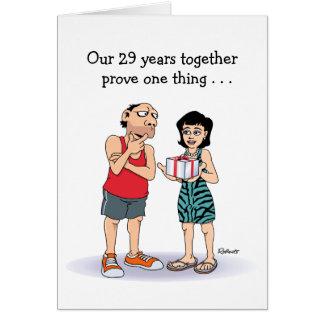 Cartão 29o Aniversário de casamento