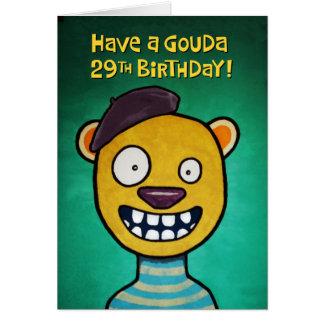 Cartão 29o aniversário feliz