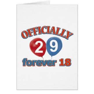 Cartão 29o design do aniversário