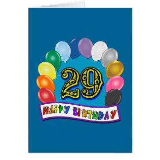 Cartão 29o Presentes de aniversário com design Assorted