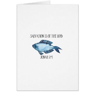 Cartão 2:9 de Jonah