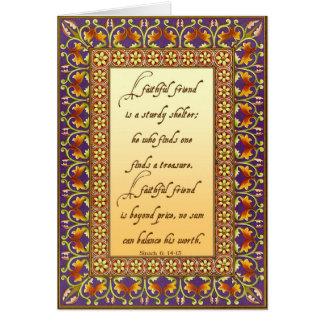 Cartão 2. A descrição da bíblia de um bom amigo