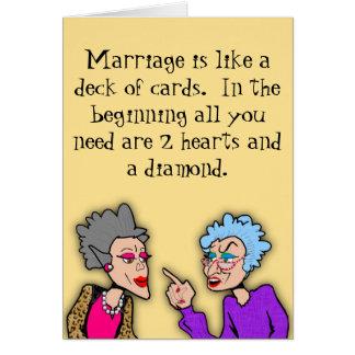 Cartão 2 corações e um diamante
