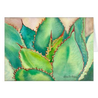 Cartão #2 da agave da aguarela
