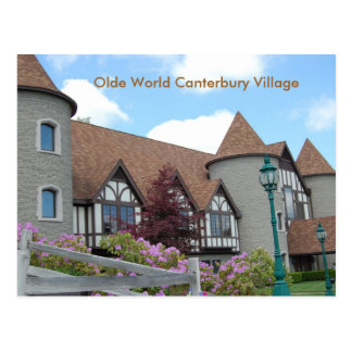 Cartão 2 da vila de Canterbury do mundo de Olde