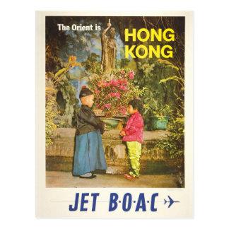 Cartão #2 das viagens vintage de Hong Kong