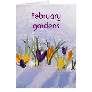 Cartão 2 de fevereiro cumprimentando