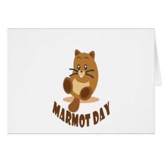 Cartão 2 de fevereiro - dia da marmota