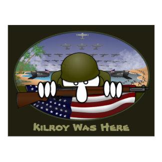 Cartão 2 de Kilroy da guerra mundial 2