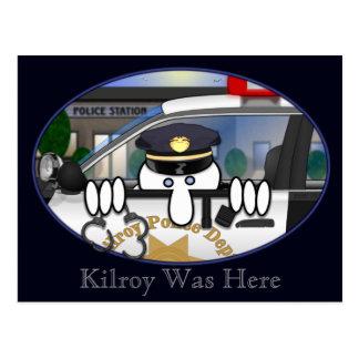 Cartão 2 de Kilroy da polícia