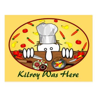 Cartão 2 de Kilroy do cozinheiro chefe