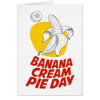 Cartão 2 de março - dia da torta de creme da banana