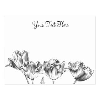Cartão 2 do cromo da tulipa