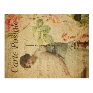 Cartão 2 do vintage de Postale do carte