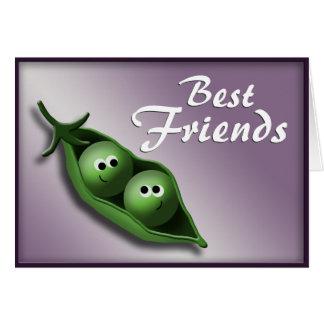 Cartão 2 ervilhas em melhores amigos Notecards de um ~ do