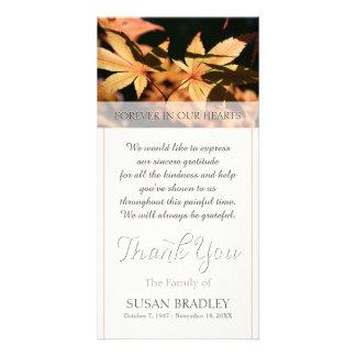 Cartão 2 folhas no obrigado da simpatia do outono você