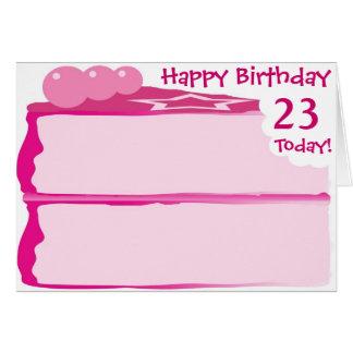 Cartão 2ó aniversário feliz