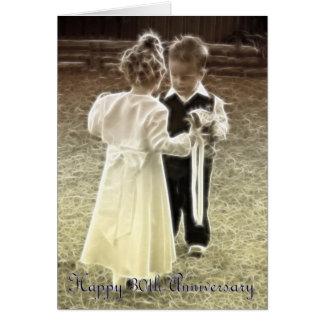 Cartão 30o Aniversário feliz do aniversário de casamento