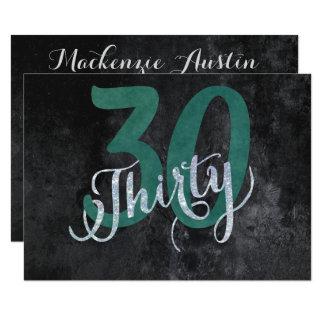 Cartão 30o Festa de aniversário feita sob encomenda do