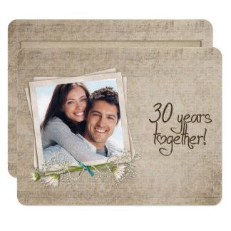 Cartão 30o Renovação do voto do aniversário de casamento