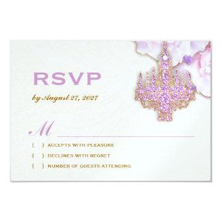 Cartão 311 candelabro roxo chamativo RSVP metálico