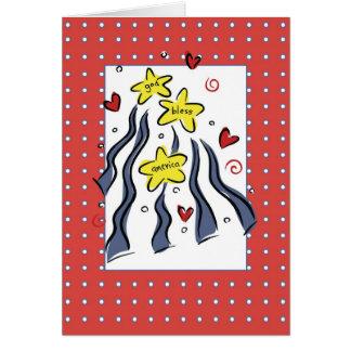 Cartão 3307 deus abençoe América
