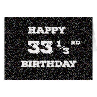 Cartão 33 squiggles de 1/3 de aniversário