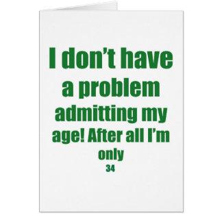 Cartão 34 admita minha idade