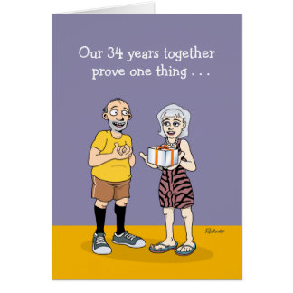 Cartão 34o aniversário engraçado