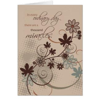 Cartão 3501 milagre ordinários do dia