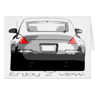 """Cartão 350Z """"Enjoytheview. """""""