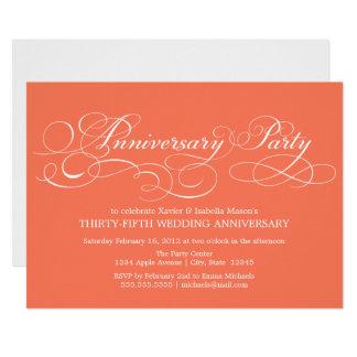Cartão 35o Coral do aniversário |