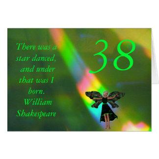 Cartão 38th Citações feericamente verdes de Willam