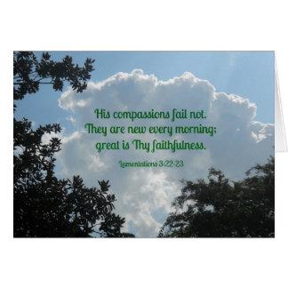 Cartão 3:22 dos lamentos - 23 que suas piedades falham