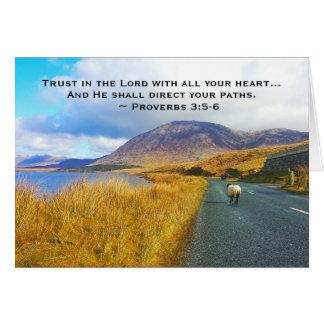 Cartão 3:5 dos provérbio - 6 confiam o senhor, Ireland