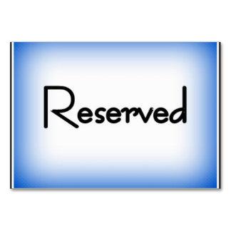 """Cartão 3,5"""" horizontal x 5"""" Tablecard, """"reservado básico"""