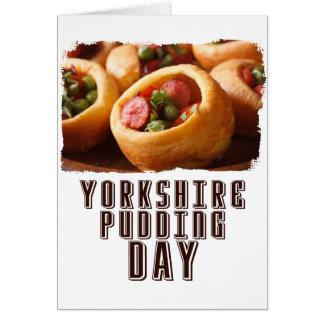 Cartão 3 de fevereiro - dia do pudim de Yorkshire