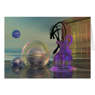 Cartão 3d surrealista
