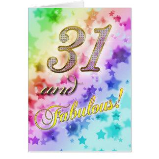 Cartão 3ø aniversário para alguém fabuloso