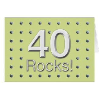 Cartão 40 rochas