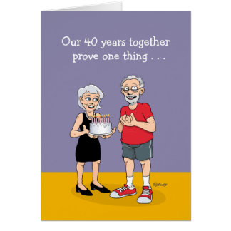 Cartão 40th aniversário engraçado
